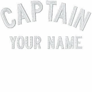 Custom Embroidered Captain Template Embroidered Hoodies