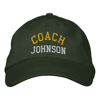 Custom Embroidered Coach Hat Embroidered Baseball Caps
