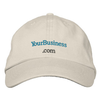 Custom embroidered company website uniform hat