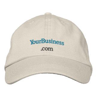 Custom embroidered company website uniform hat