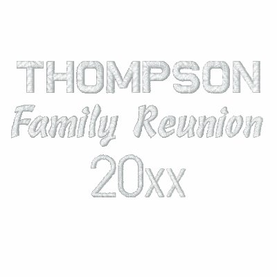 Custom embroidered family reunion polo shirts zazzle for Custom embroidered polo shirts no minimum order
