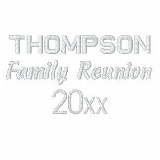 Custom Embroidered Family Reunion Polo Shirts