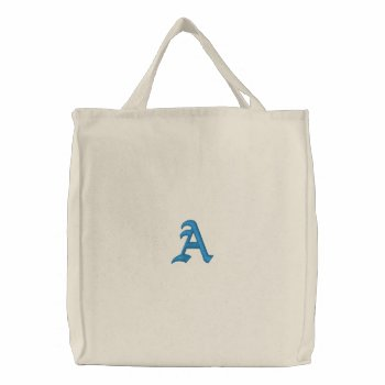 Custom Embroidered Tote Bag by creativeconceptss at Zazzle