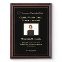 Custom Employee Awards Plaque Photo Personalize