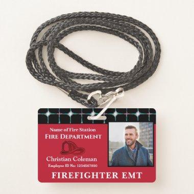 Custom Employee Name ID  Card Logo Bar Code Photo Badge