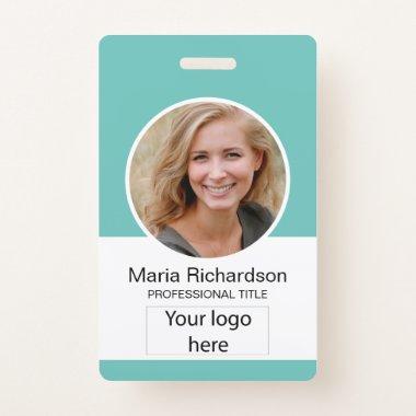 Custom Employee, Photo, Bar Code, Logo, Name Badge