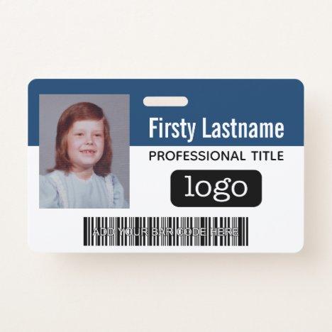 Custom Employee - Photo, Bar Code, Logo, Name Badge