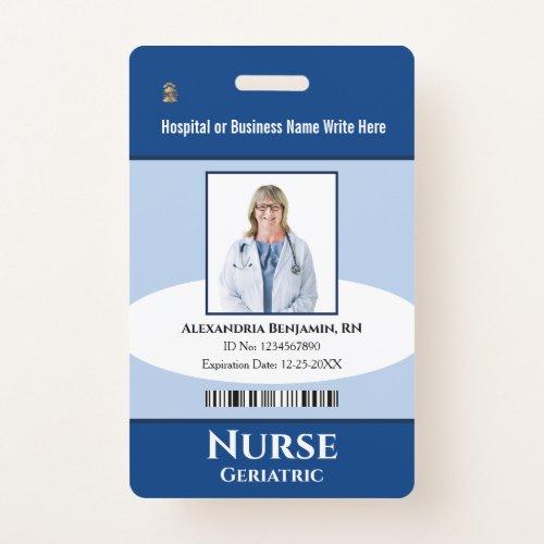 Custom Employee Photo Logo Bar Code Name Badge