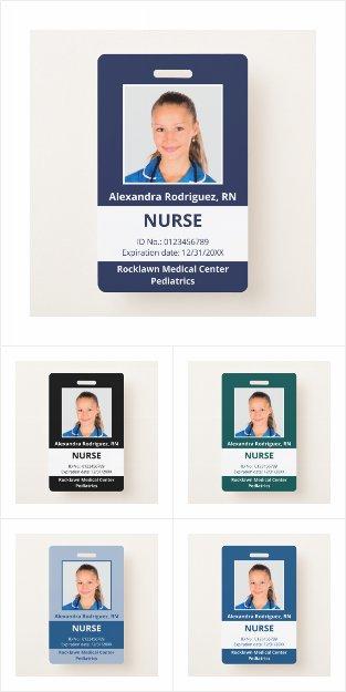 Custom Employee Photo Medical ID Badges