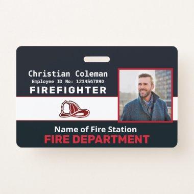 Custom Employee Photo Name ID  Card Logo Bar Code  Badge