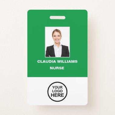 Custom Employee Photo,Name , Logo, Bar Code Badge