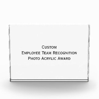 Custom Employee Team Photo Acrylic Block Award