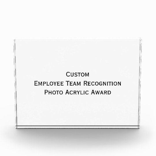 Custom Employee Team Photo Acrylic Block Award Zazzle