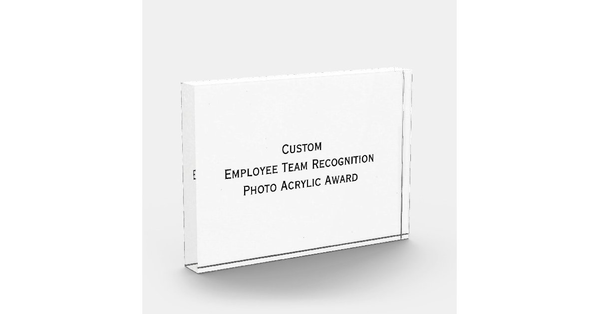 Custom employee team photo acrylic block award zazzle for Custom acrylic blocks