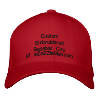 Custom Emroidered Baseball Cap at eZaZZleMan.com