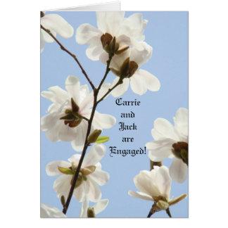 Custom Engagement Cards Blue Sky Magnolias