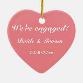 Bride and groom ornaments keepsake ornaments zazzle for Engagement christmas tree ornaments