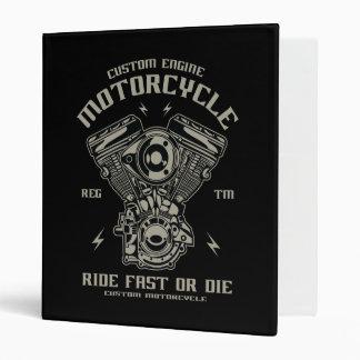 Custom Engine Motorcycle Ride Fast Or Die Binder
