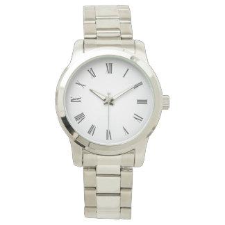 Custom Enhanced Roman Numeral Silver Watch