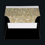 """Custom Envelope - (4x6) Black Fab<br><div class=""""desc"""">Custom Envelopes,  choose your own size,  type,  color etc. Glitter look lining inside. *Please note: this lining is not shiny.</div>"""