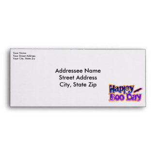 Custom Envelope - HAPPY BOO DAY - Halloween