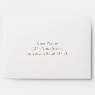 Custom Envelope with Cream Interior Envelope