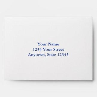 Custom Envelope with Dark Navy Blue Interior Envelopes