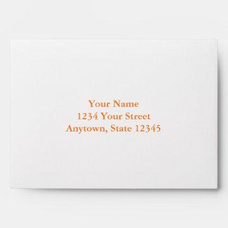 Custom Envelope with Orange Interior Envelopes