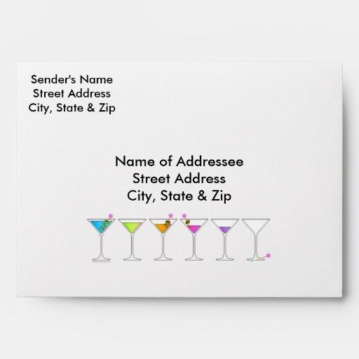 Custom Envelopes - Martinis Going, Going, GONE