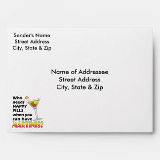 Custom Envelopes - Martinis v. Happy Pills