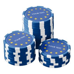Custom European Union flag poker chips for Europe at Zazzle