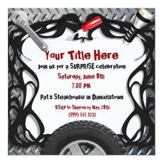 Custom Event Auto Mechanic Invitations