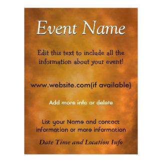 Custom Event Burnt Energy Flyer