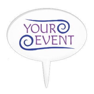 Custom Event Cake Pick Company Logo Branded