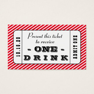 Drink coupon business cards templates zazzle for Complimentary drink ticket template