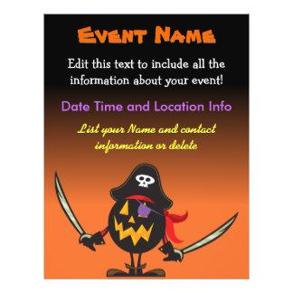 Custom Event Halloween Pirate Pumpkin Flyer