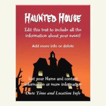Custom Event Haunted House Flyer