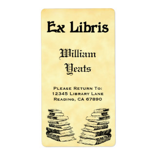 Custom Ex Libris Vintage Books Labels