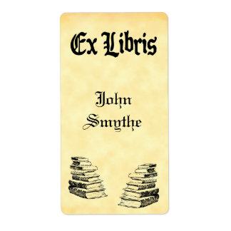 Custom Ex Libris Vintage Books Tags Shipping Label