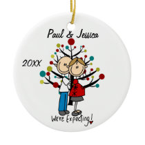Custom Expectant Couple Christmas Ornament