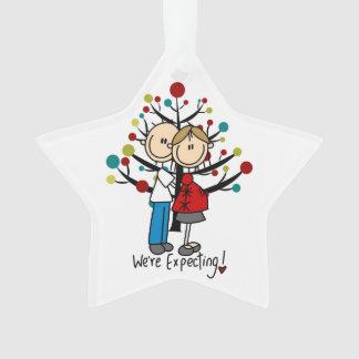 Custom Expectant Couple Holiday Acrylic Ornament