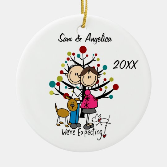 expectant couple christmas ornaments
