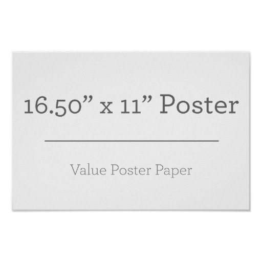 Custom Extra Small Poster