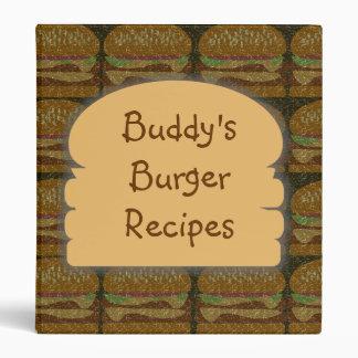 Custom Faded Burger Binder