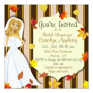 Custom Fall Bridal Shower Invitations