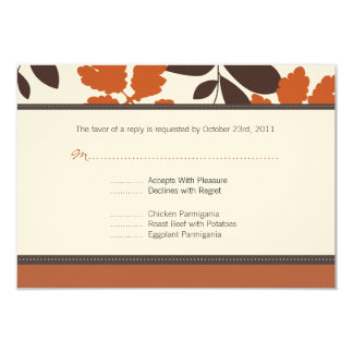 Custom Fall Response Card Personalized Announcement