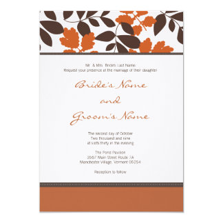 Custom Fall Wedding Invitation