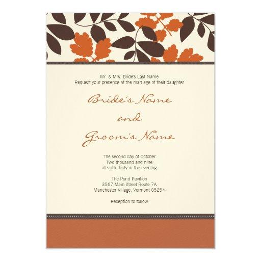 Custom Fall Wedding Invitation