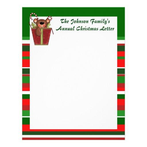 Custom Family Annual Christmas Letter Letterhead