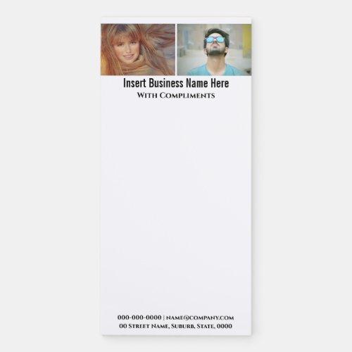 Custom family business 2 photo fridge magnetic notepad